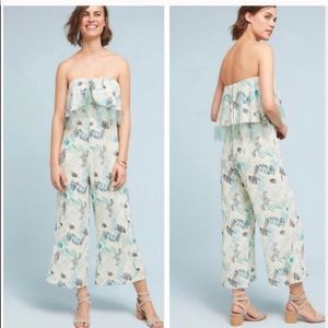 Anthropologie Foxiedox Ruffle Jumpsuit Large